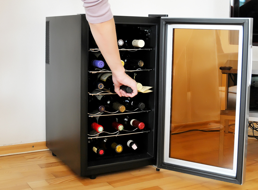 NutriChef Dual Zone Thermoelectric Wine Cooler
