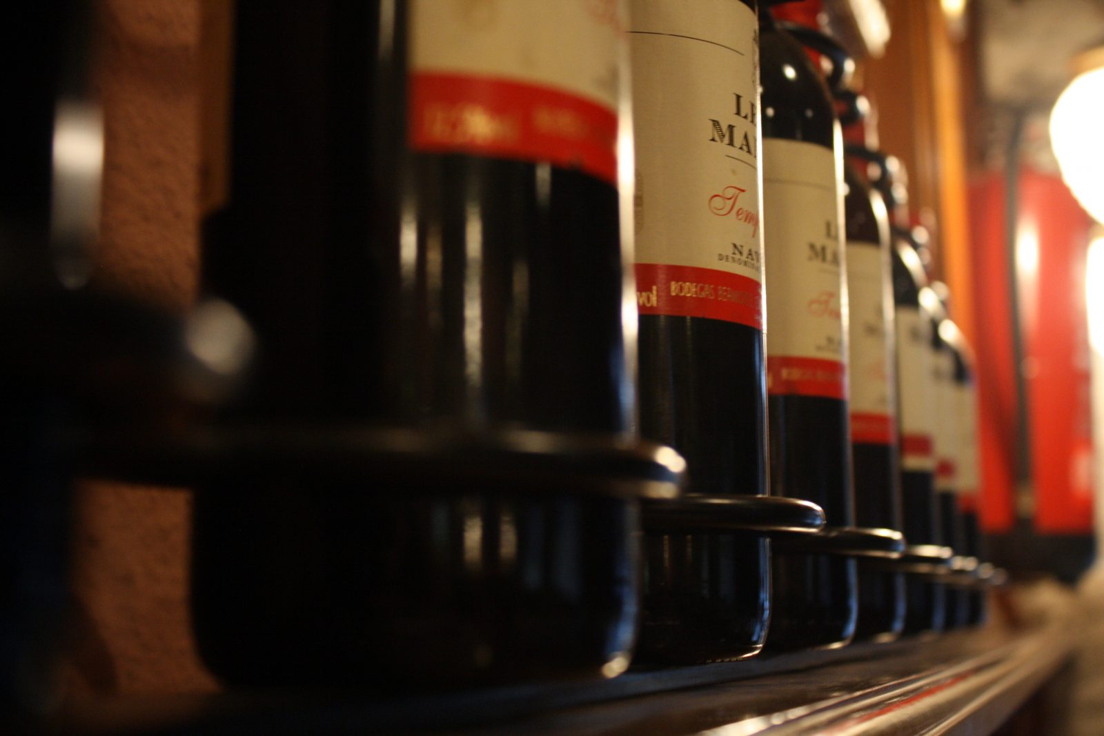 Close-up of Wine Bottles that could go in the Phiestina 15 Inch Wine Cooler